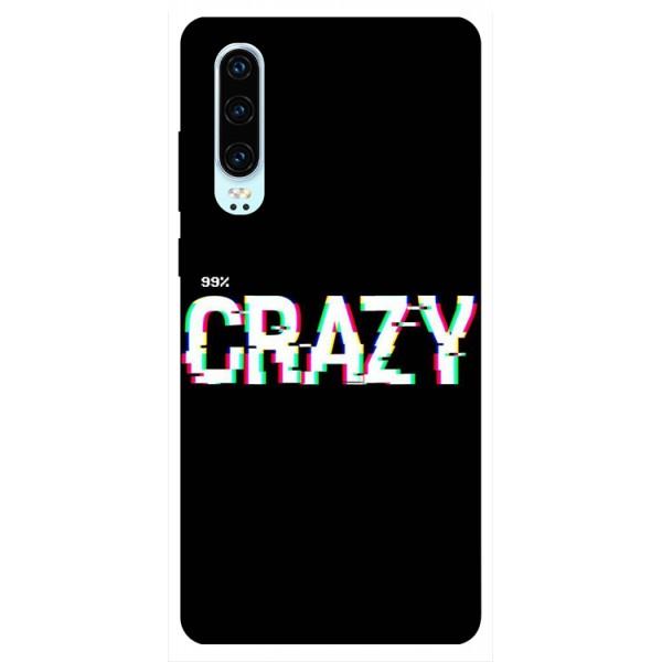 Husa Silicon Soft Upzz Print Huawei P30 Model Crazy imagine itelmobile.ro 2021