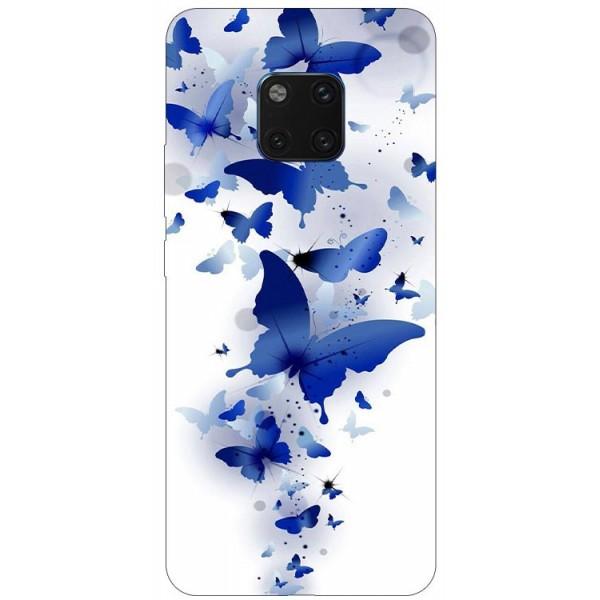 Husa Silicon Soft Upzz Print Huawei Mate 20 Pro Model Blue Butetrflies imagine itelmobile.ro 2021