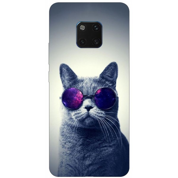 Husa Silicon Soft Upzz Print Huawei Mate 20 Pro Model Cool Cat imagine itelmobile.ro 2021