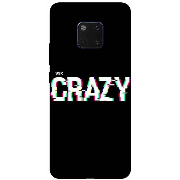 Husa Silicon Soft Upzz Print Huawei Mate 20 Pro Model Crazy imagine itelmobile.ro 2021