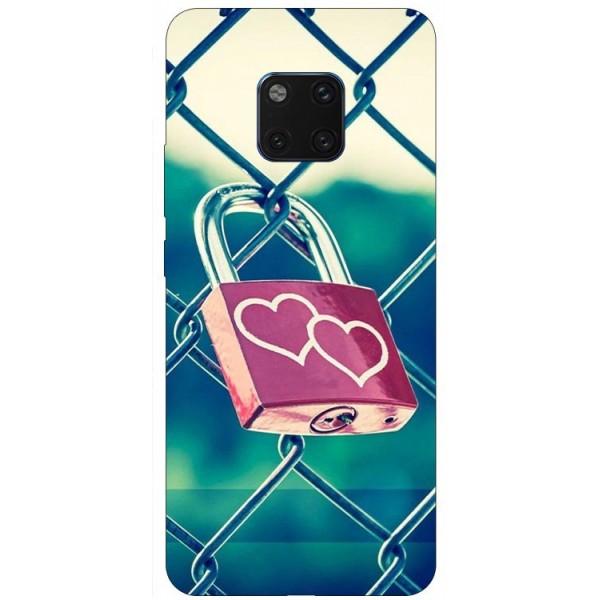 Husa Silicon Soft Upzz Print Huawei Mate 20 Pro Model Heart Lock imagine itelmobile.ro 2021
