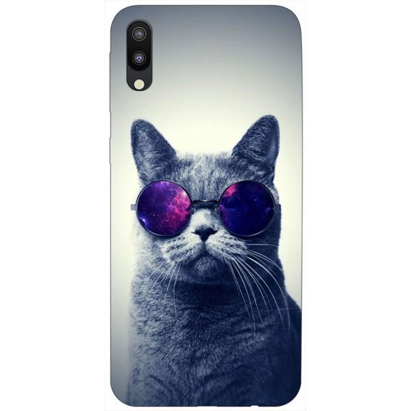 Husa Silicon Soft Upzz Print Samsung Galaxy M10 Model Cool Cat imagine itelmobile.ro 2021
