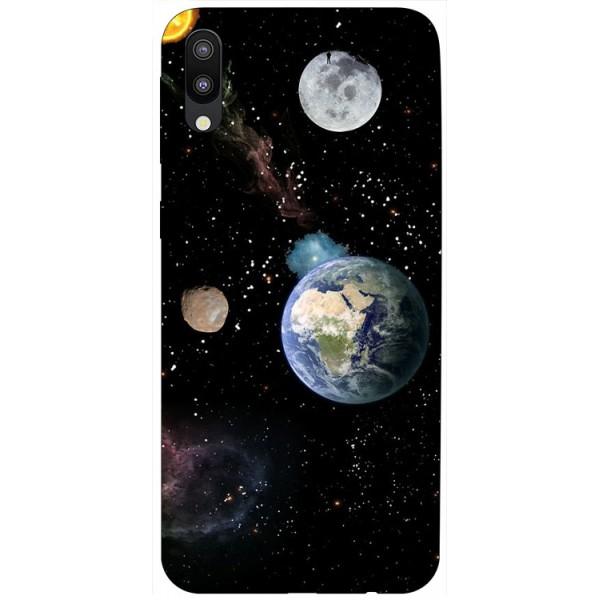Husa Silicon Soft Upzz Print Samsung Galaxy M10 Model Earth imagine itelmobile.ro 2021