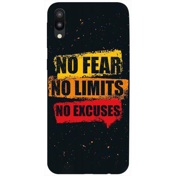 Husa Silicon Soft Upzz Print Samsung Galaxy M10 Model No Fear imagine itelmobile.ro 2021