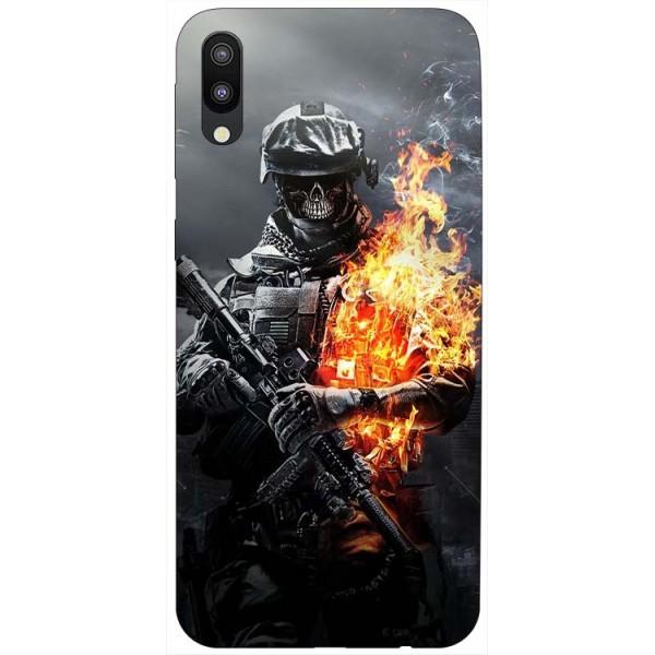 Husa Silicon Soft Upzz Print Samsung Galaxy M10 Model Soldier imagine itelmobile.ro 2021