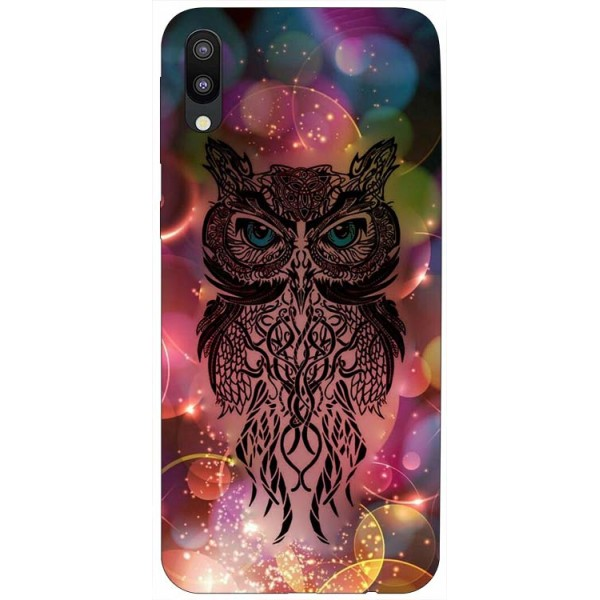 Husa Silicon Soft Upzz Print Samsung Galaxy M10 Model Sparkle Owl imagine itelmobile.ro 2021