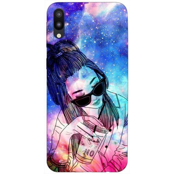 Husa Silicon Soft Upzz Print Samsung Galaxy M10 Model Universe Girl imagine itelmobile.ro 2021