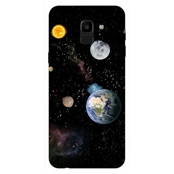 Husa Silicon Soft Upzz Print Samsung J6 2018 Model Earth imagine itelmobile.ro 2021