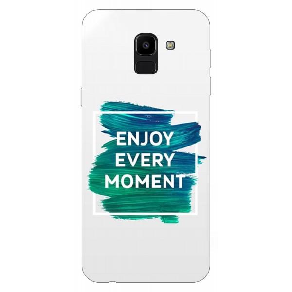 Husa Silicon Soft Upzz Print Samsung J6 2018 Model Enjoy imagine itelmobile.ro 2021