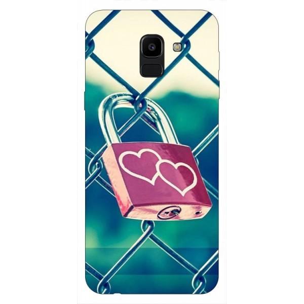 Husa Silicon Soft Upzz Print Samsung J6 2018 Model Heart Lock imagine itelmobile.ro 2021