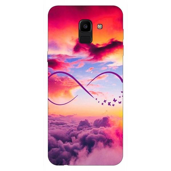 Husa Silicon Soft Upzz Print Samsung J6 2018 Model Infinity imagine itelmobile.ro 2021