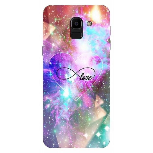 Husa Silicon Soft Upzz Print Samsung J6 2018 Model Neon Love imagine itelmobile.ro 2021
