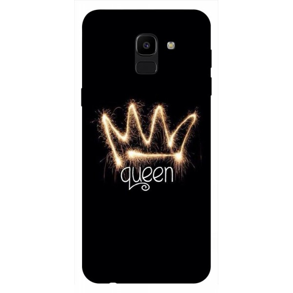 Husa Silicon Soft Upzz Print Samsung J6 2018 Model Queen imagine itelmobile.ro 2021
