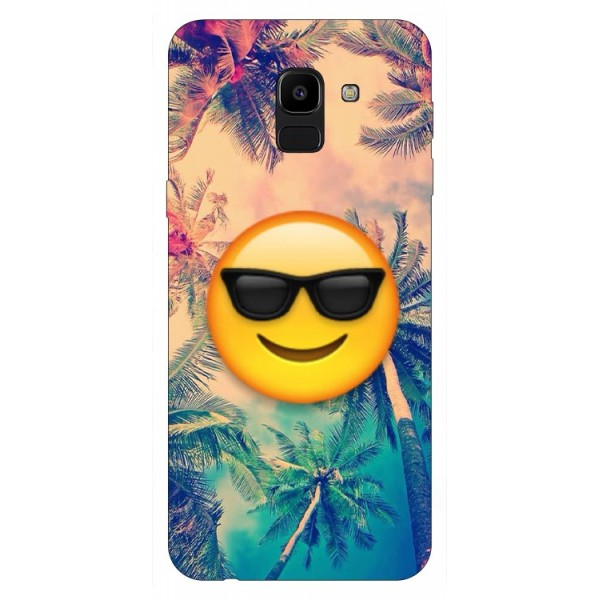 Husa Silicon Soft Upzz Print Samsung J6 2018 Model Smile imagine itelmobile.ro 2021
