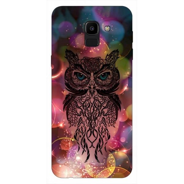 Husa Silicon Soft Upzz Print Samsung J6 2018 Model Sparkle Owl imagine itelmobile.ro 2021