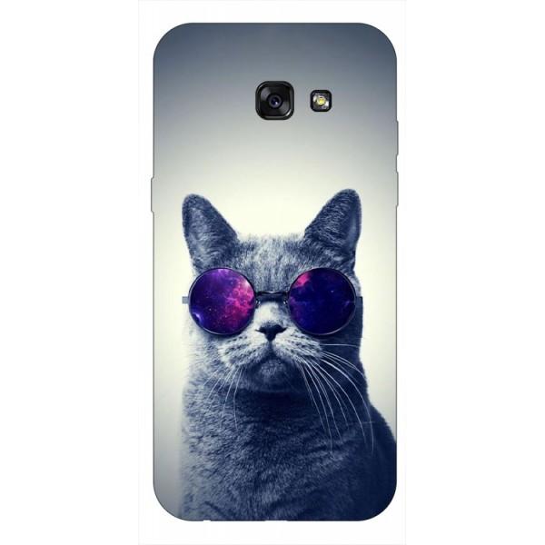 Husa Silicon Soft Upzz Print Samsung A5 2017 Model Cool Cat imagine itelmobile.ro 2021