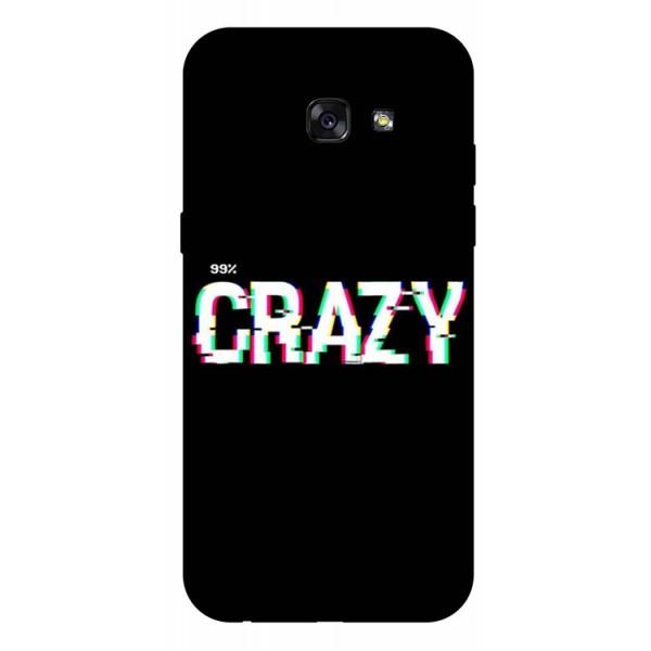 Husa Silicon Soft Upzz Print Samsung A5 2017 Model Crazy imagine itelmobile.ro 2021