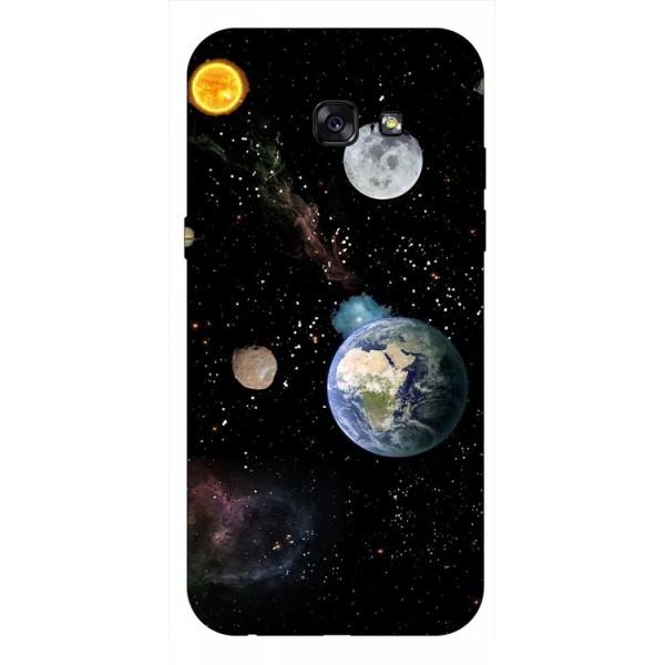 Husa Silicon Soft Upzz Print Samsung A5 2017 Model Earth imagine itelmobile.ro 2021