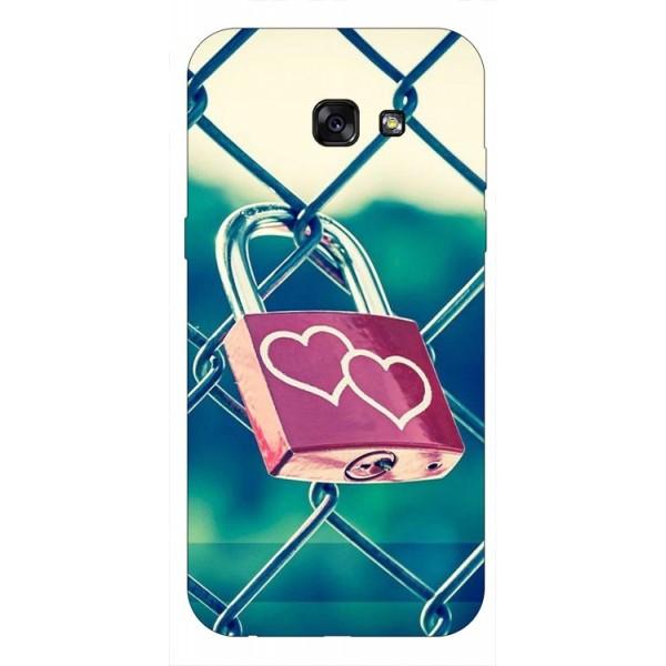 Husa Silicon Soft Upzz Print Samsung A5 2017 Model Heart Lock imagine itelmobile.ro 2021