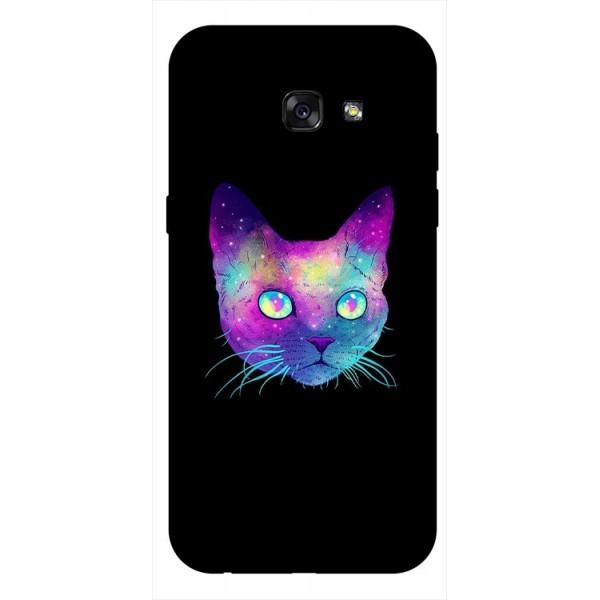 Husa Silicon Soft Upzz Print Samsung A5 2017 Model Neon Cat imagine itelmobile.ro 2021