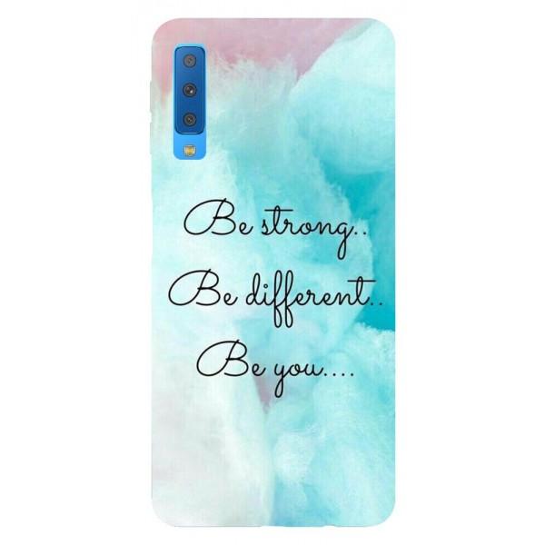 Husa Silicon Soft Upzz Print Samsung Galaxy A7 2018 Model Be You imagine itelmobile.ro 2021