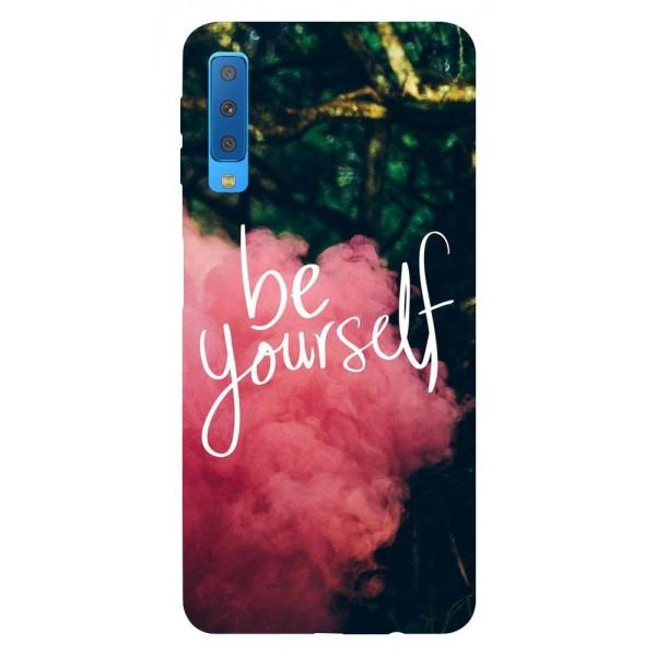 Husa Silicon Soft Upzz Print Samsung Galaxy A7 2018 Model Be Yourself imagine itelmobile.ro 2021
