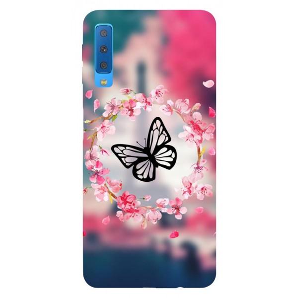 Husa Silicon Soft Upzz Print Samsung Galaxy A7 2018 Model Butterflies imagine itelmobile.ro 2021