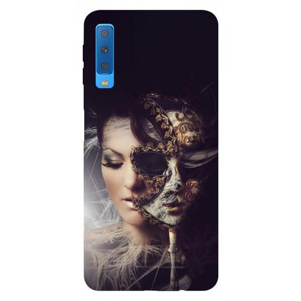 Husa Silicon Soft Upzz Print Samsung Galaxy A7 2018 Model Carnaval imagine itelmobile.ro 2021
