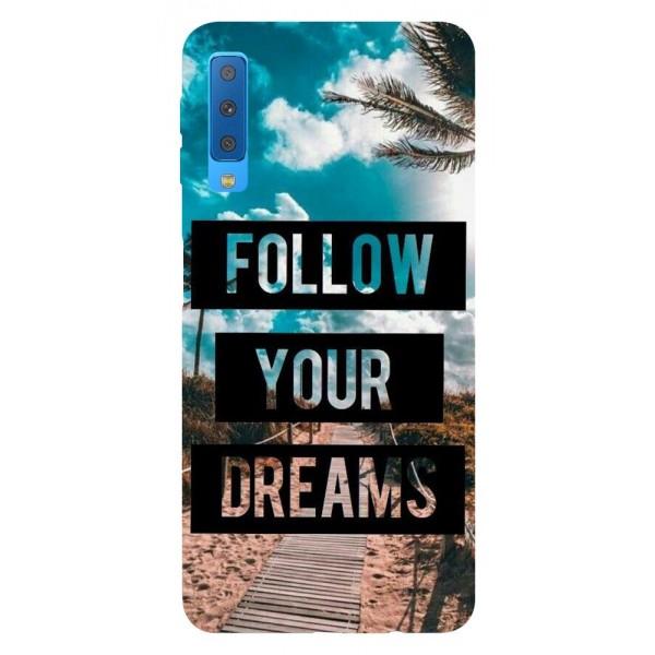 Husa Silicon Soft Upzz Print Samsung Galaxy A7 2018 Model Dreams imagine itelmobile.ro 2021