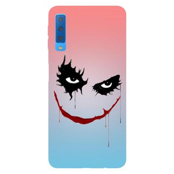 Husa Silicon Soft Upzz Print Samsung Galaxy A7 2018 Model Joker imagine itelmobile.ro 2021
