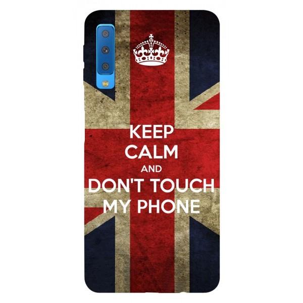 Husa Silicon Soft Upzz Print Samsung Galaxy A7 2018 Model Keep Calm imagine itelmobile.ro 2021