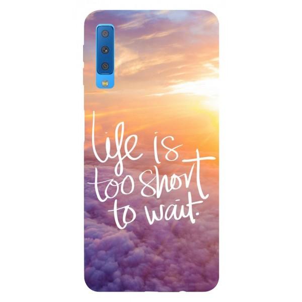 Husa Silicon Soft Upzz Print Samsung Galaxy A7 2018 Model Life imagine itelmobile.ro 2021