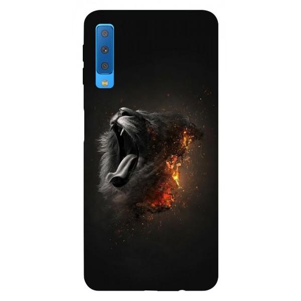 Husa Silicon Soft Upzz Print Samsung Galaxy A7 2018 Model Lion imagine itelmobile.ro 2021