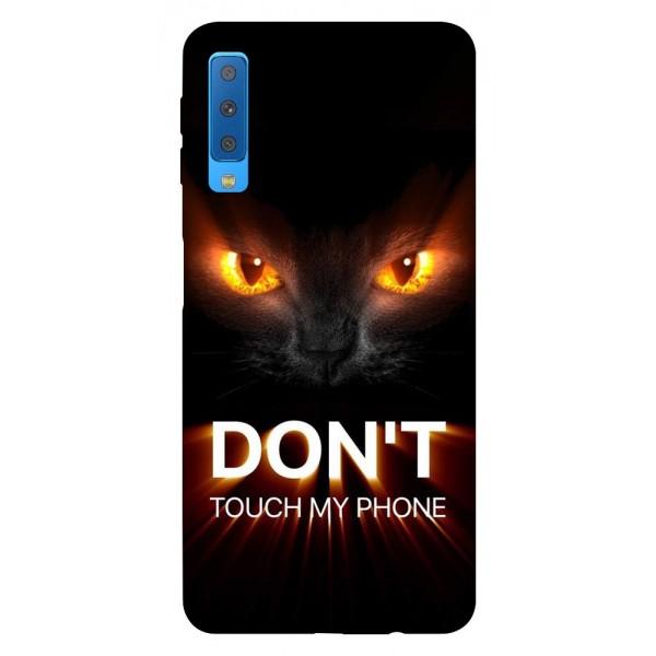 Husa Silicon Soft Upzz Print Samsung Galaxy A7 2018 Model My Phone Cat imagine itelmobile.ro 2021