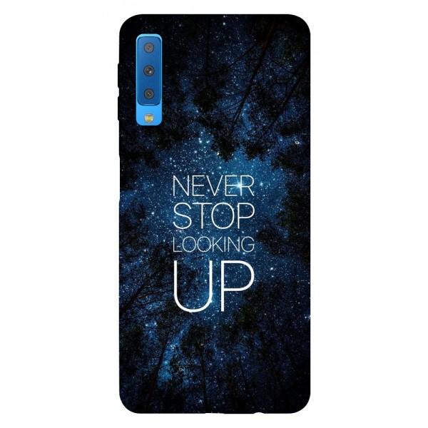 Husa Silicon Soft Upzz Print Samsung Galaxy A7 2018 Model Never Stop imagine itelmobile.ro 2021