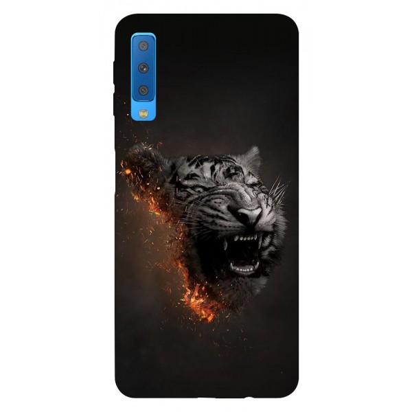 Husa Silicon Soft Upzz Print Samsung Galaxy A7 2018 Model Tiger imagine itelmobile.ro 2021