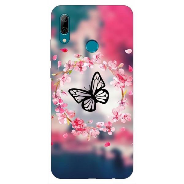 Husa Silicon Soft Upzz Print Huawei P Smart 2019 Model Butterflies imagine itelmobile.ro 2021