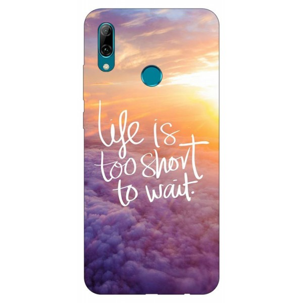 Husa Silicon Soft Upzz Print Huawei P Smart 2019 Model Life imagine itelmobile.ro 2021