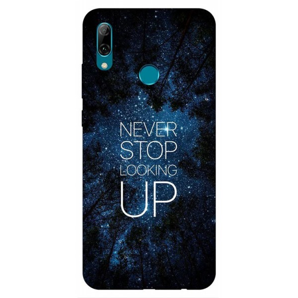 Husa Silicon Soft Upzz Print Huawei P Smart 2019 Model Never Stop imagine itelmobile.ro 2021