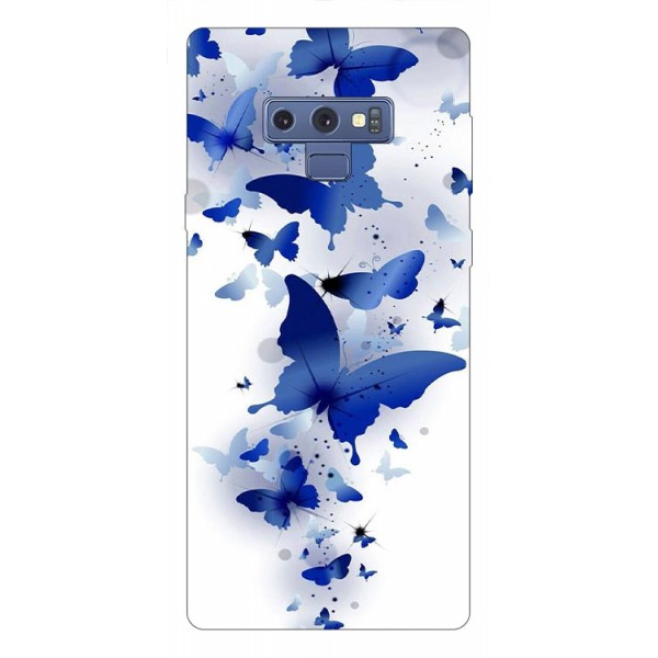 Husa Silicon Soft Upzz Print Samsung Galaxy Note 9 Model Blue Butterflies imagine itelmobile.ro 2021