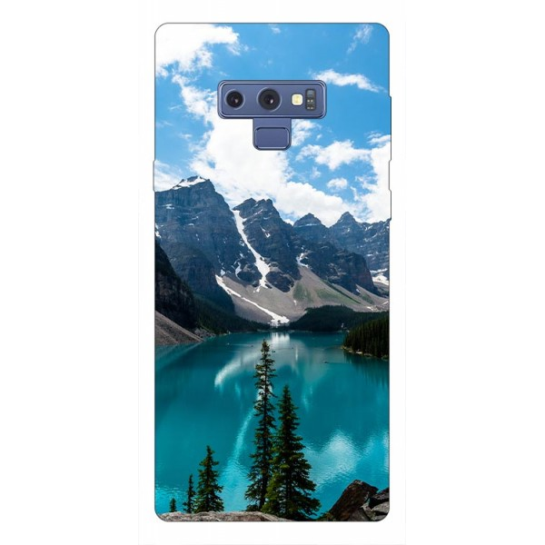 Husa Silicon Soft Upzz Print Samsung Galaxy Note 9 Model Blue imagine itelmobile.ro 2021