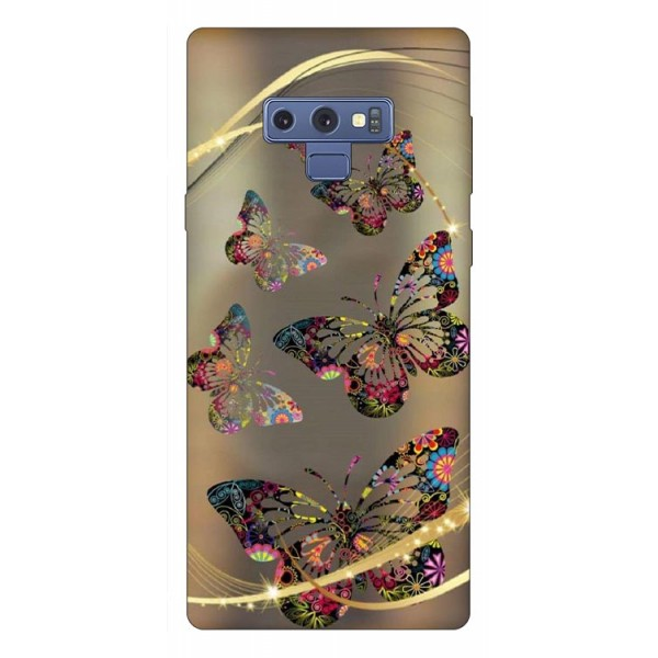 Husa Silicon Soft Upzz Print Samsung Galaxy Note 9 Model Golden Butterfly imagine itelmobile.ro 2021