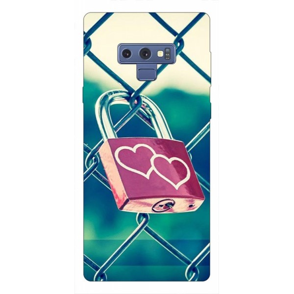 Husa Silicon Soft Upzz Print Samsung Galaxy Note 9 Model Heart Lock imagine itelmobile.ro 2021