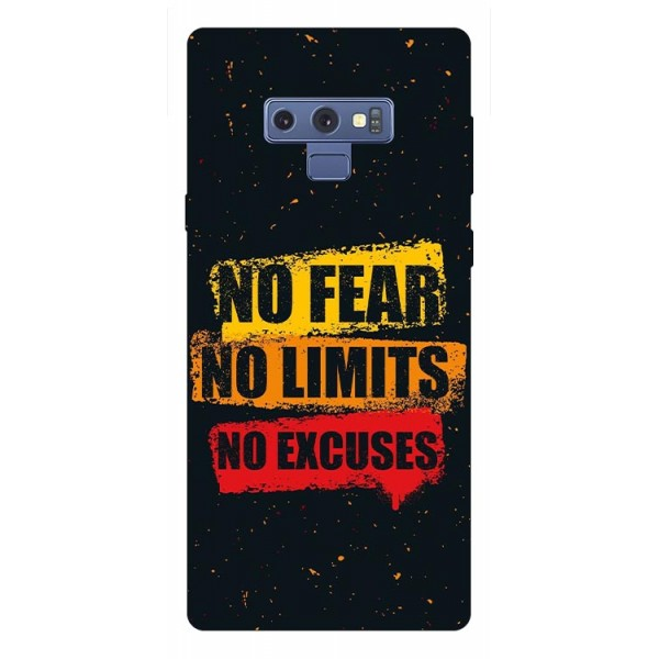 Husa Silicon Soft Upzz Print Samsung Galaxy Note 9 Model No Fear imagine itelmobile.ro 2021