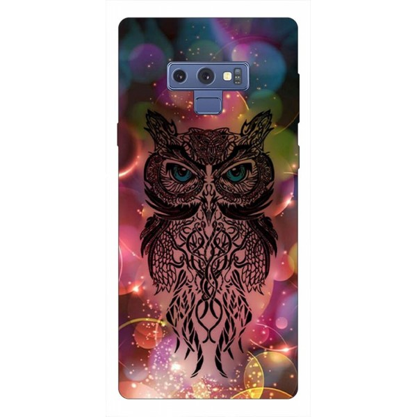 Husa Silicon Soft Upzz Print Samsung Galaxy Note 9 Model Sparkle Owl imagine itelmobile.ro 2021