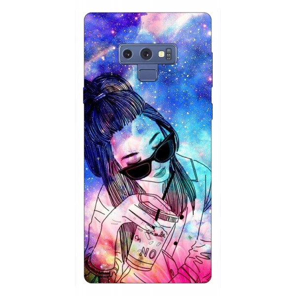 Husa Silicon Soft Upzz Print Samsung Galaxy Note 9 Model Universe Girl imagine itelmobile.ro 2021