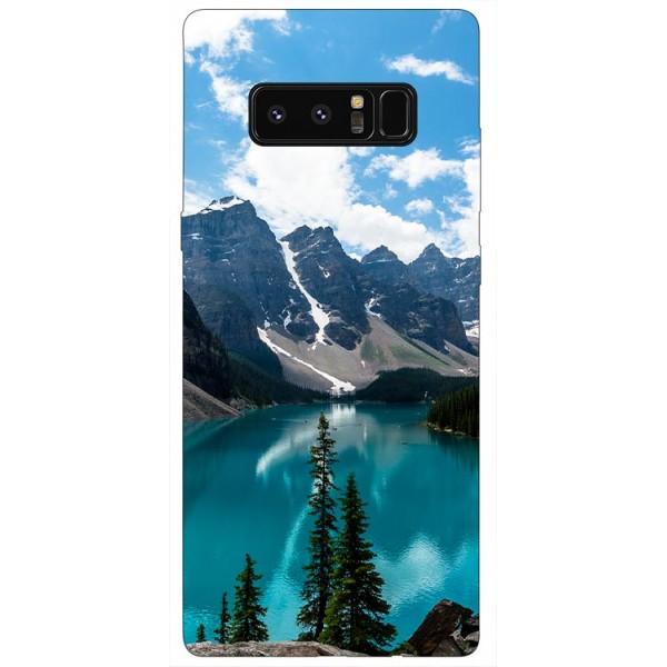 Husa Silicon Soft Upzz Print Samsung Galaxy Note 8 Model Blue imagine itelmobile.ro 2021