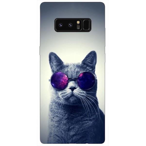 Husa Silicon Soft Upzz Print Samsung Galaxy Note 8 Model Cool Cat imagine itelmobile.ro 2021