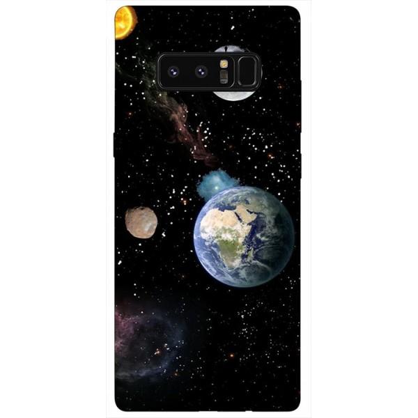 Husa Silicon Soft Upzz Print Samsung Galaxy Note 8 Model Earth imagine itelmobile.ro 2021