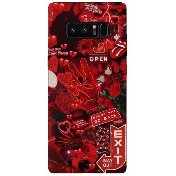 Husa Silicon Soft Upzz Print Samsung Galaxy Note 8 Model Exit imagine itelmobile.ro 2021